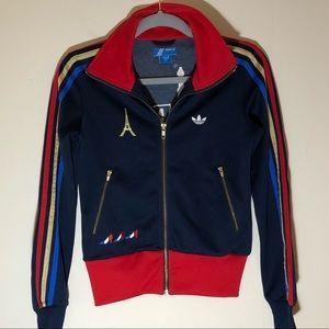 HTF Adidas PARIS athletic jacket XS like new rare